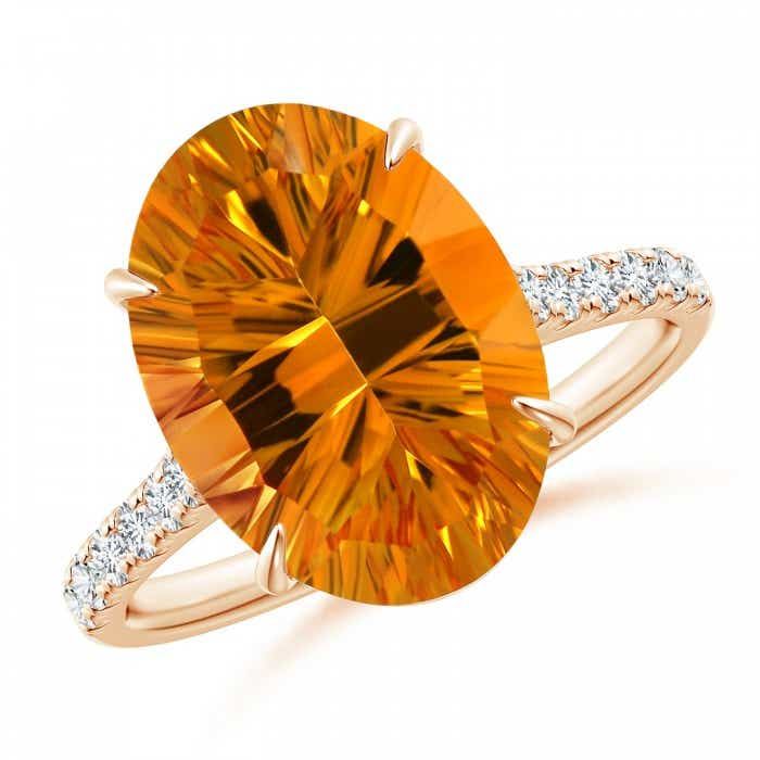 Angara Classic GIA Certified Oval Citrine Solitaire Ring mLly0Ubb