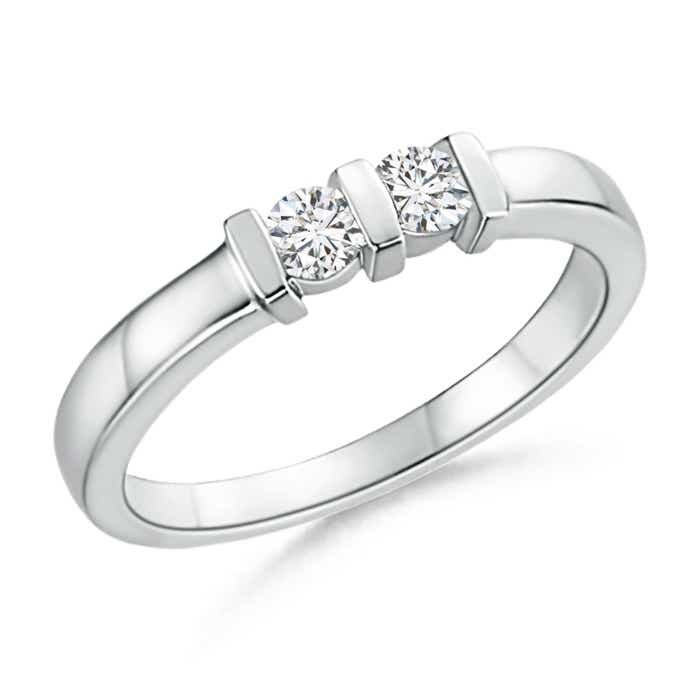 Angara Round Two Stone Diamond Ring with Bar Setting kFSh8oOk