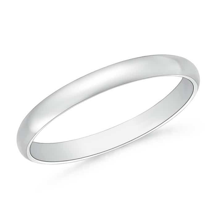 Angara Comfort Fit Plain Wedding Band in Platinum for Her l16MM