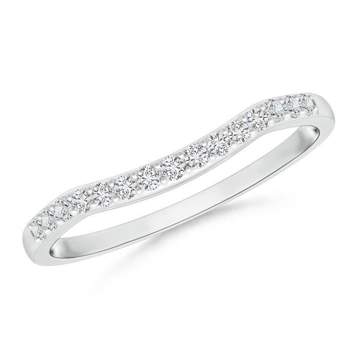 Angara Pave Round Diamond Curved Wedding Band JeByaqjjMT