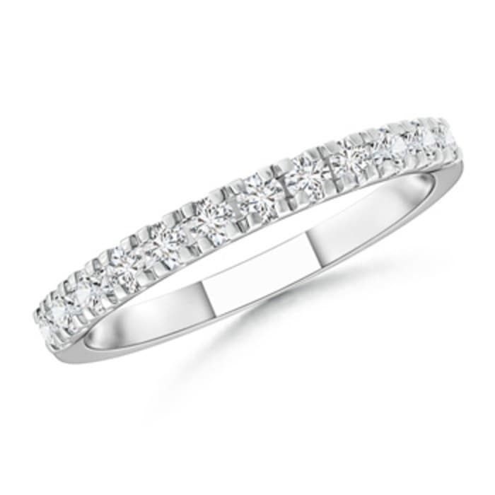 Angara Diamond Half Eternity Wedding Band in White Gold 1aPSg