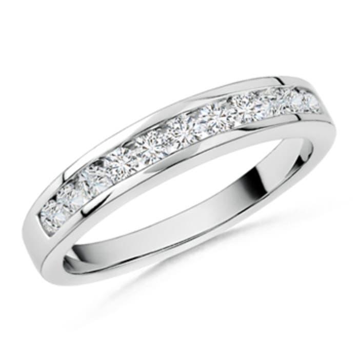 Angara Channel-Set Half Eternity Diamond Wedding Band in Rose Gold kcL7yeGi