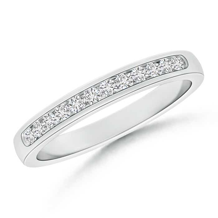 Angara Channel-Set Diamond Wedding Band in White Gold ALmKSfDCB