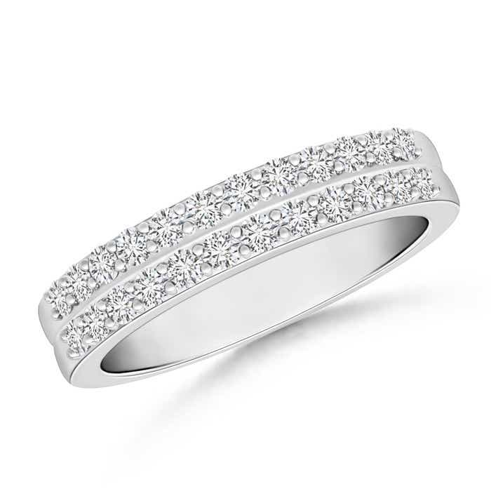 Angara Channel-Set Triple Row Diamond Wedding Band