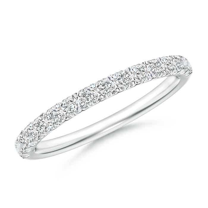 Angara Diamond Half Eternity Wedding Band in White Gold azA6uZaS