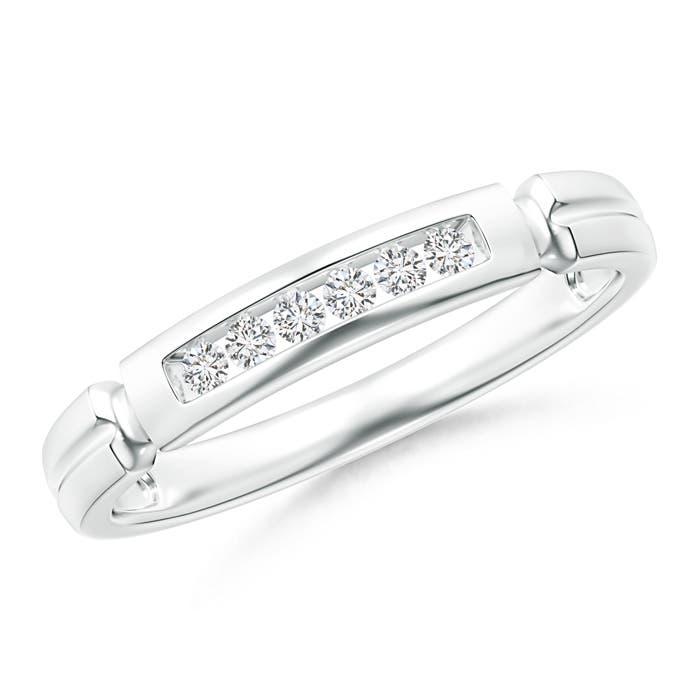 Angara Milgrain-Edged Pave Set Diamond Half Eternity Womens Wedding Band 2l1r8I6
