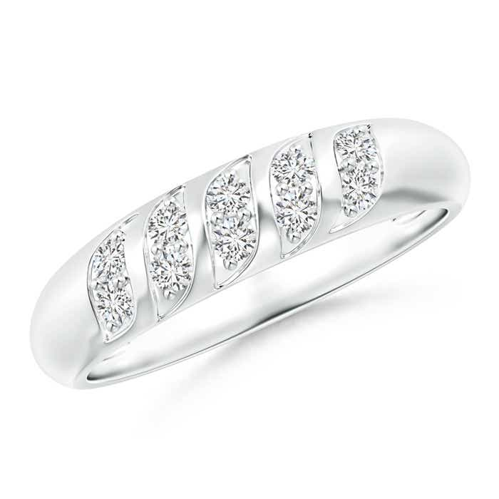 Angara Channel Grooved Classic Diamond Womens Wedding Band MSsiMIybI