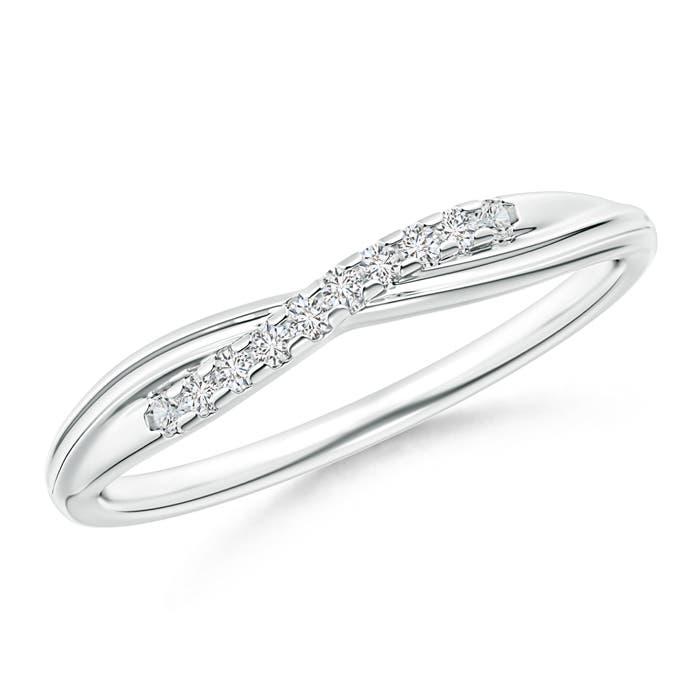 Criss Cross Diamond Wedding Band For Her Angara