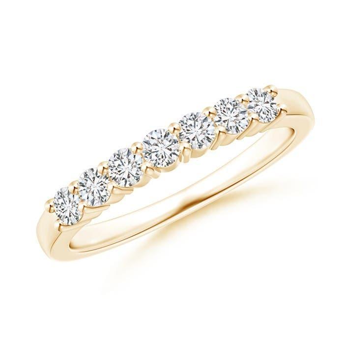 Angara Nine Stone Shared Prong-Set Diamond Wedding Band DAun7