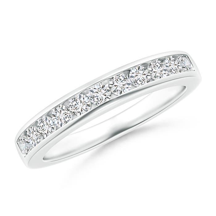 Angara Floating Seven Stone Bar-Set Diamond Wedding Band rHt0jxn