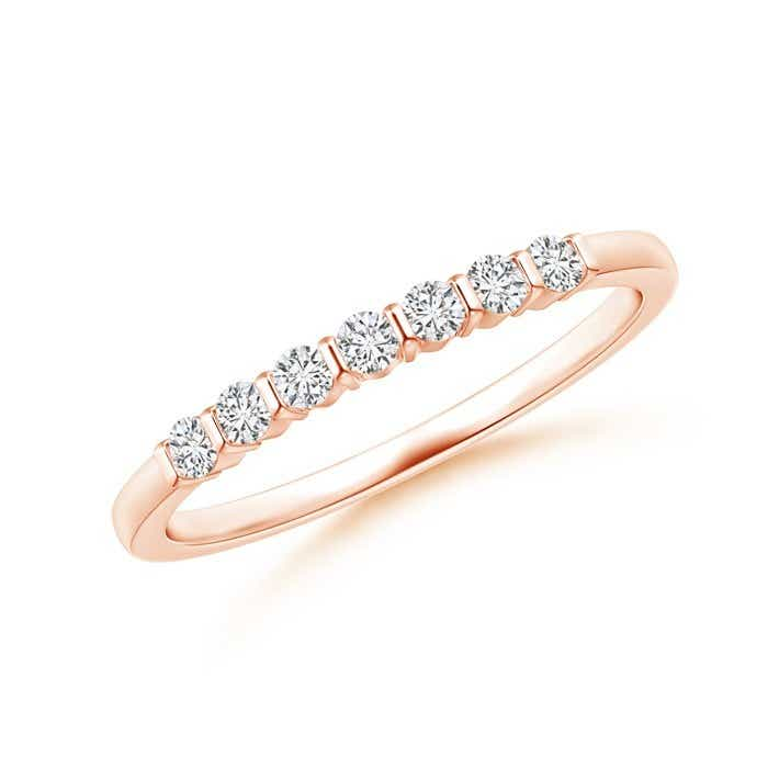 Angara Floating Five Stone Bar-Set Diamond Wedding Band
