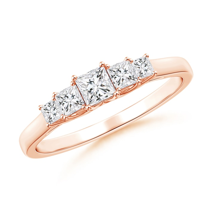 Angara Floating Diamond Five Stone Wedding Band Rd4tRWLPN