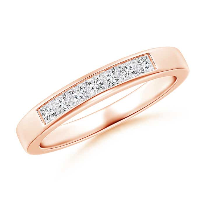 Angara Womens Channel-Set Diamond Seven Stone Band in Rose Gold NxDD8W4VD