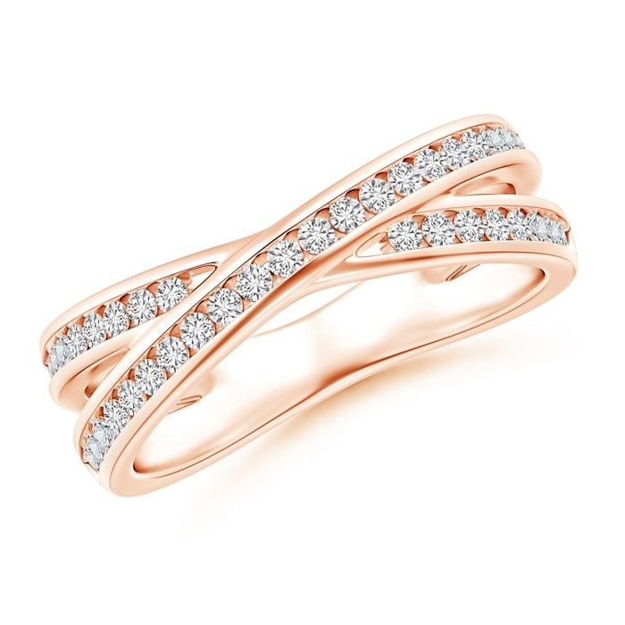 Angara Criss Cross Diamond Wedding Band for Her ddREpiW