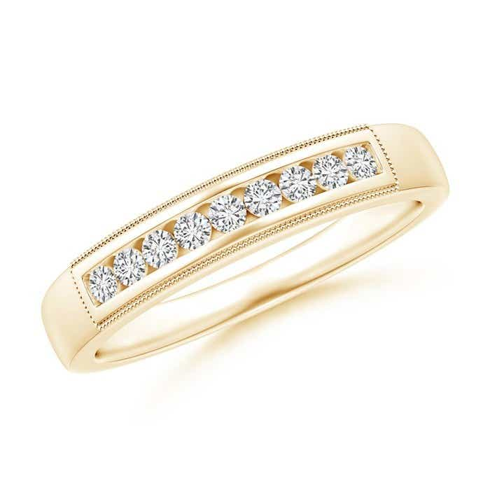 Angara Channel-Set Diamond Wedding Band in Yellow Gold njUy1