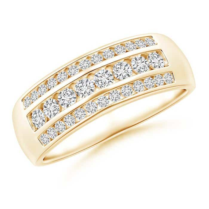 Angara Slanted Bar-Set Diamond Ten Stone Wedding Band eqAbKCop