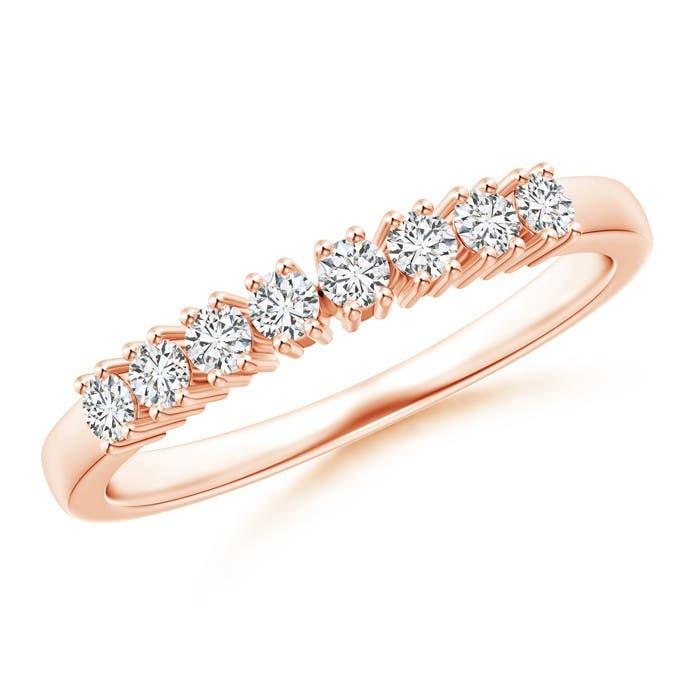 Angara Eight Stone 4-Prong Set Diamond Wedding Band cjmAiAW