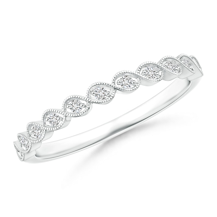 Angara Asymmetrical Infinity-Motif Diamond Half Eternity Band