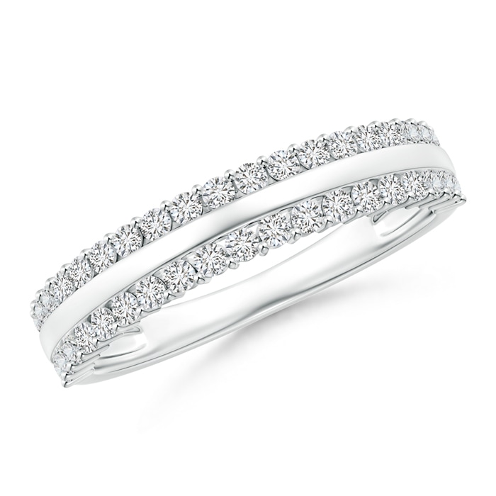Angara Railroad Diamond Anniversary Ring in Platinum oVsM0mPQEK