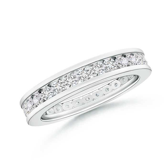 Angara Channel-Set Diamond Wedding Band in White Gold QUlGI4s1W
