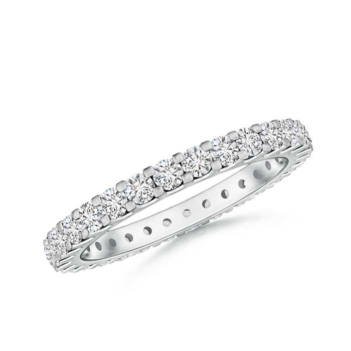 Angara Seven Stone Shared Prong-Set Diamond Wedding Band kl5lqOuH6