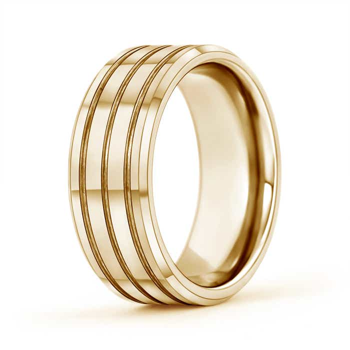 Multi Grooved Men S Comfort Fit Wedding Band Angara