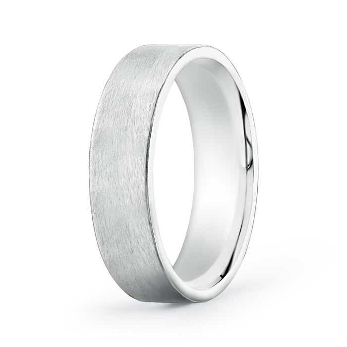 Angara Mens High Polished Flat Surface Wedding Band in Platinum HHXIPPyis