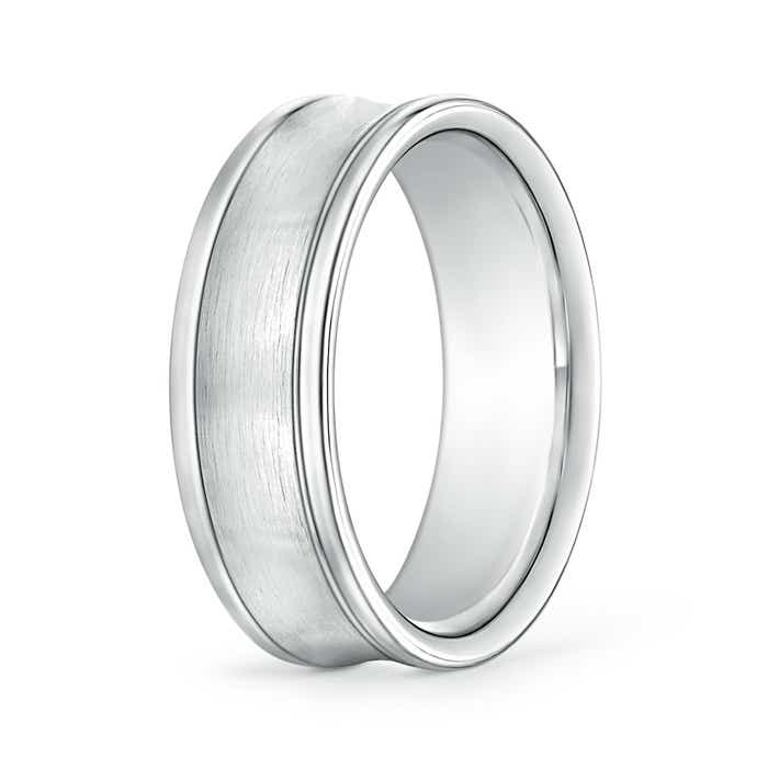 Angara Mens Polished Parallel Grooved Comfort Fit Wedding Band B34vdj29kW