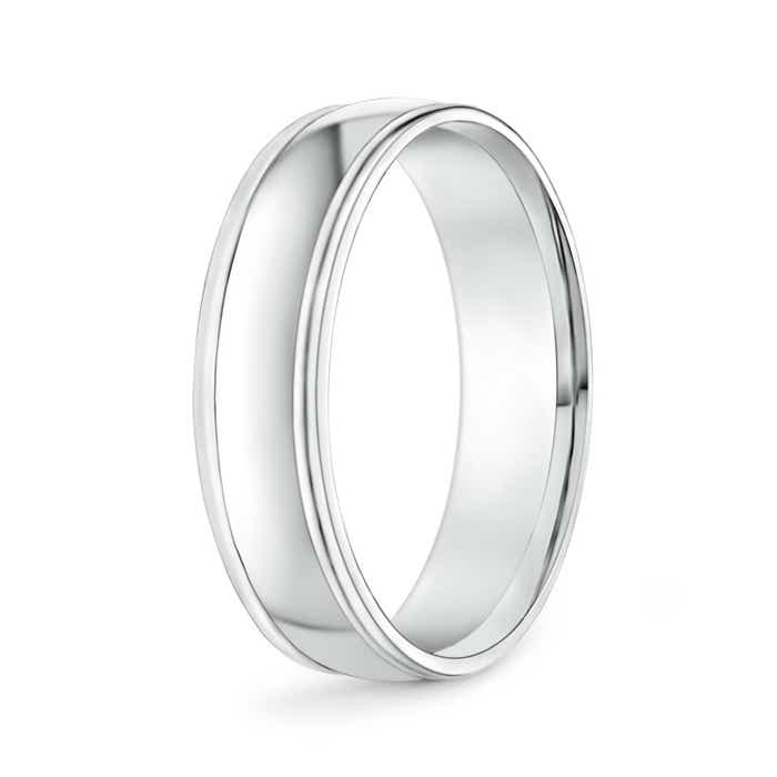 Angara Mens High Polished Low Dome Comfort Fit Wedding Band ICrbic