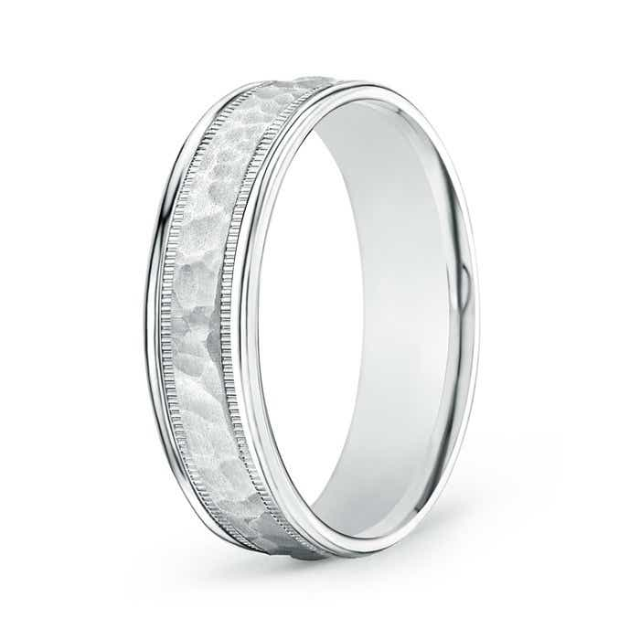 Angara Mens Bubbled Center Comfort Fit Wedding Band