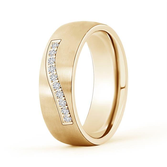 Angara Channel-Set Diamond Five Stone Mens Wedding Band MWc7bCK