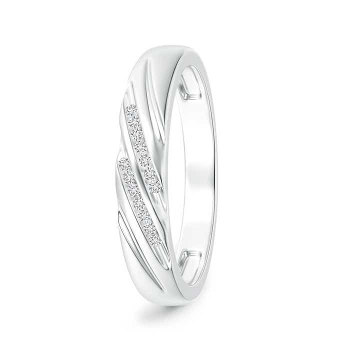 Angara Criss Cross Diamond Wedding Band for Him vXct11PT5c