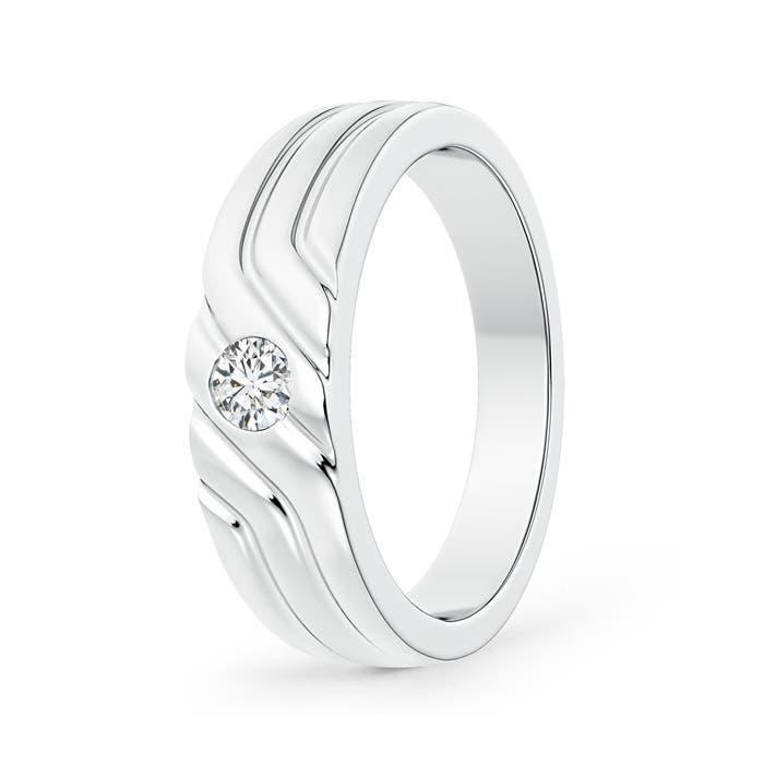 Angara Solitaire Diamond Geometric Wedding Band for Him 9b2bvbo