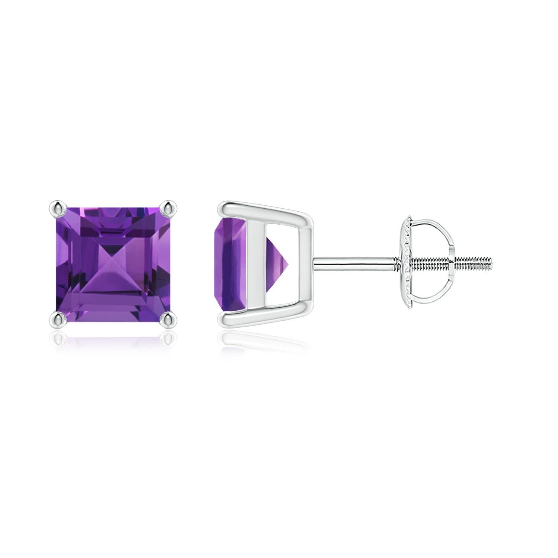 Amethyst Stud Earrings  Crystal Earrings  Amethyst  Amethyst Earrings