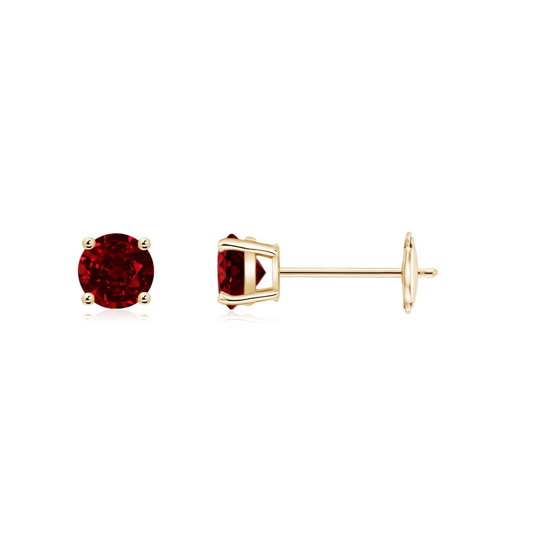 7cc3f8439 Round Ruby Stud Earrings | Angara