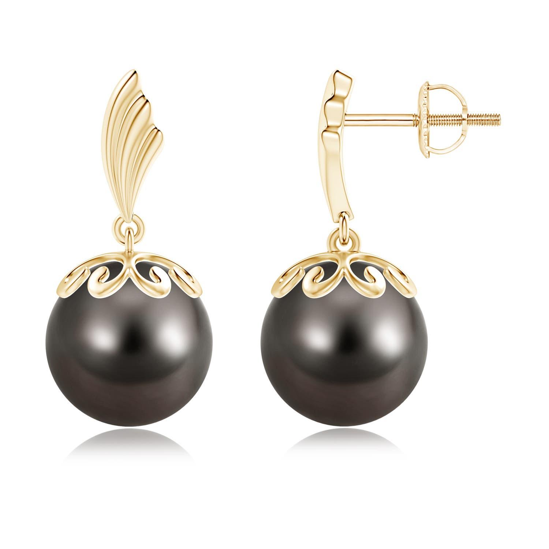 10mm-Tahitian-Cultured-Pearl-Dangle-Earrings-14K-Rose-Gold-Silver