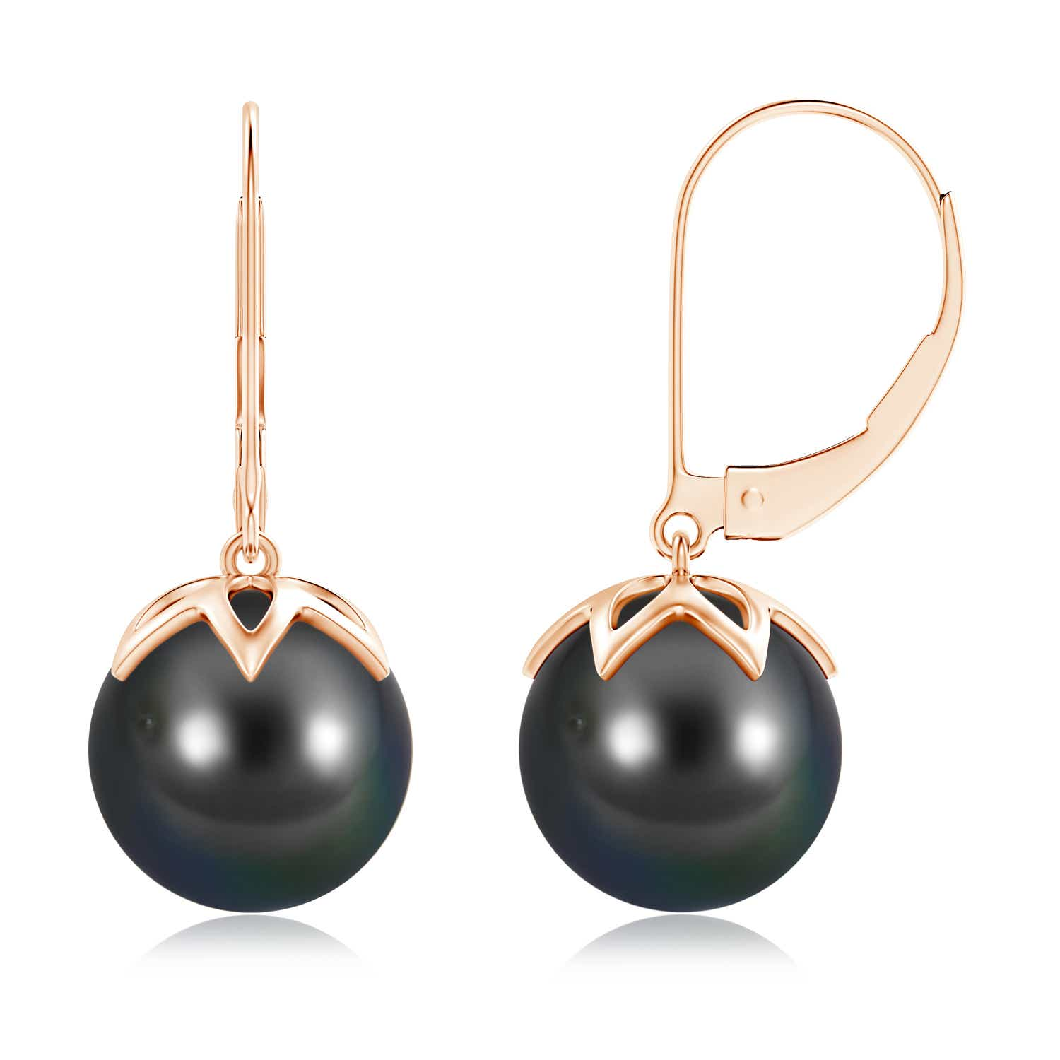 10mm-Tahitian-Cultured-Pearl-Lever-back-Drop-Earrings-14K-White-Gold