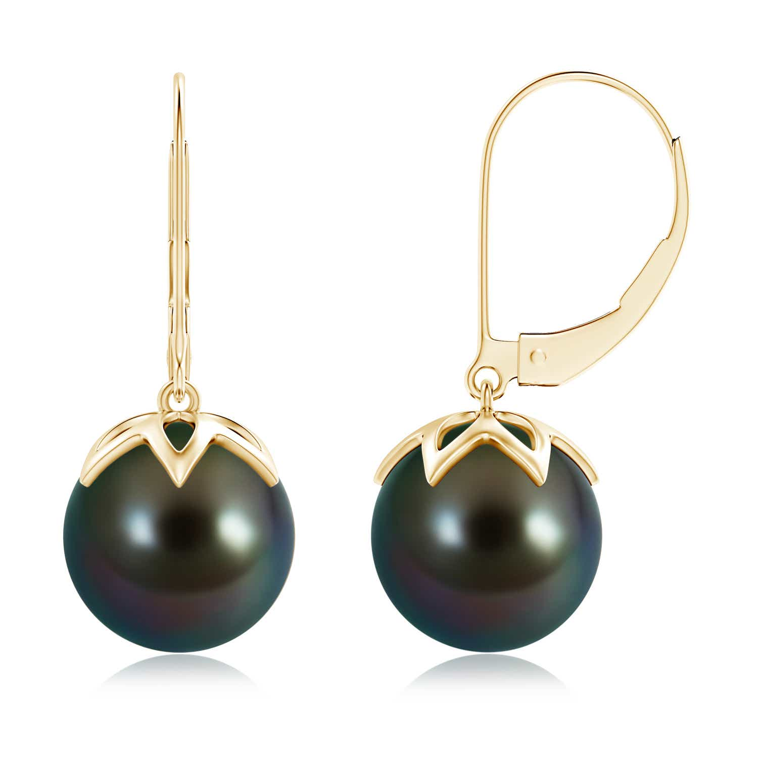 Angara Tahitian Cultured Triple Pearl Cluster Drop Earrings