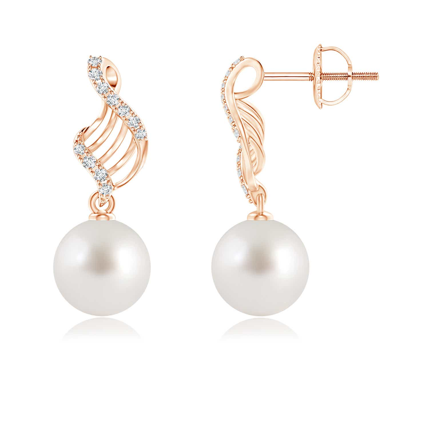 Angara South Sea Cultured Pearl Swirl Dangle Earrings vNnUUyFH