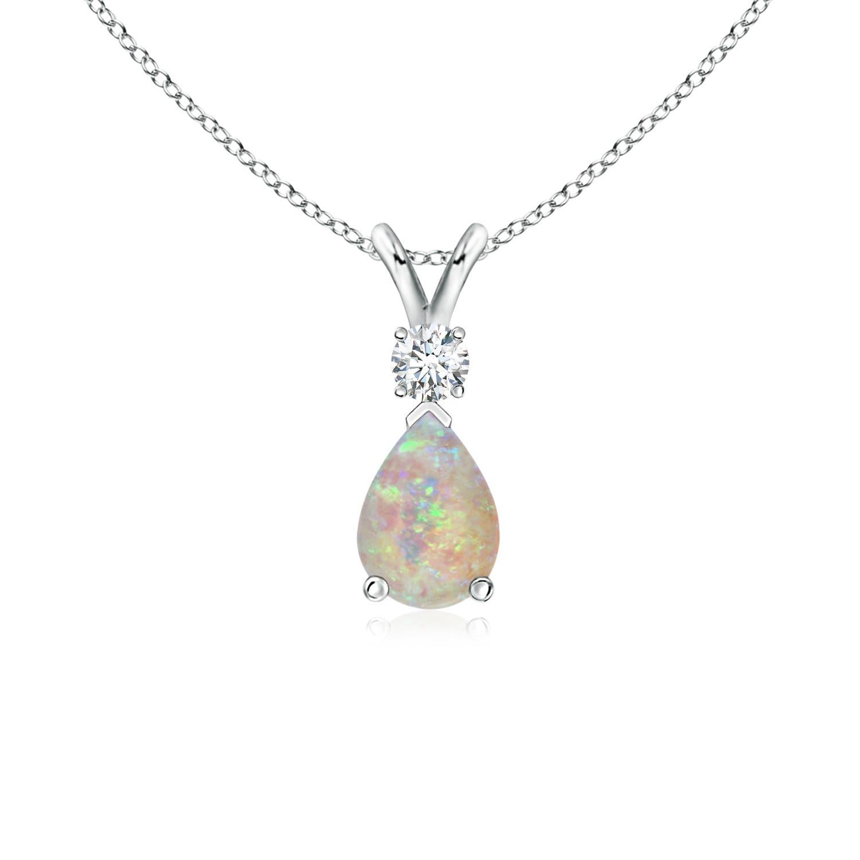 2Pcs Opal Opalite Teardrop Pendant Bead 34x15x7mm