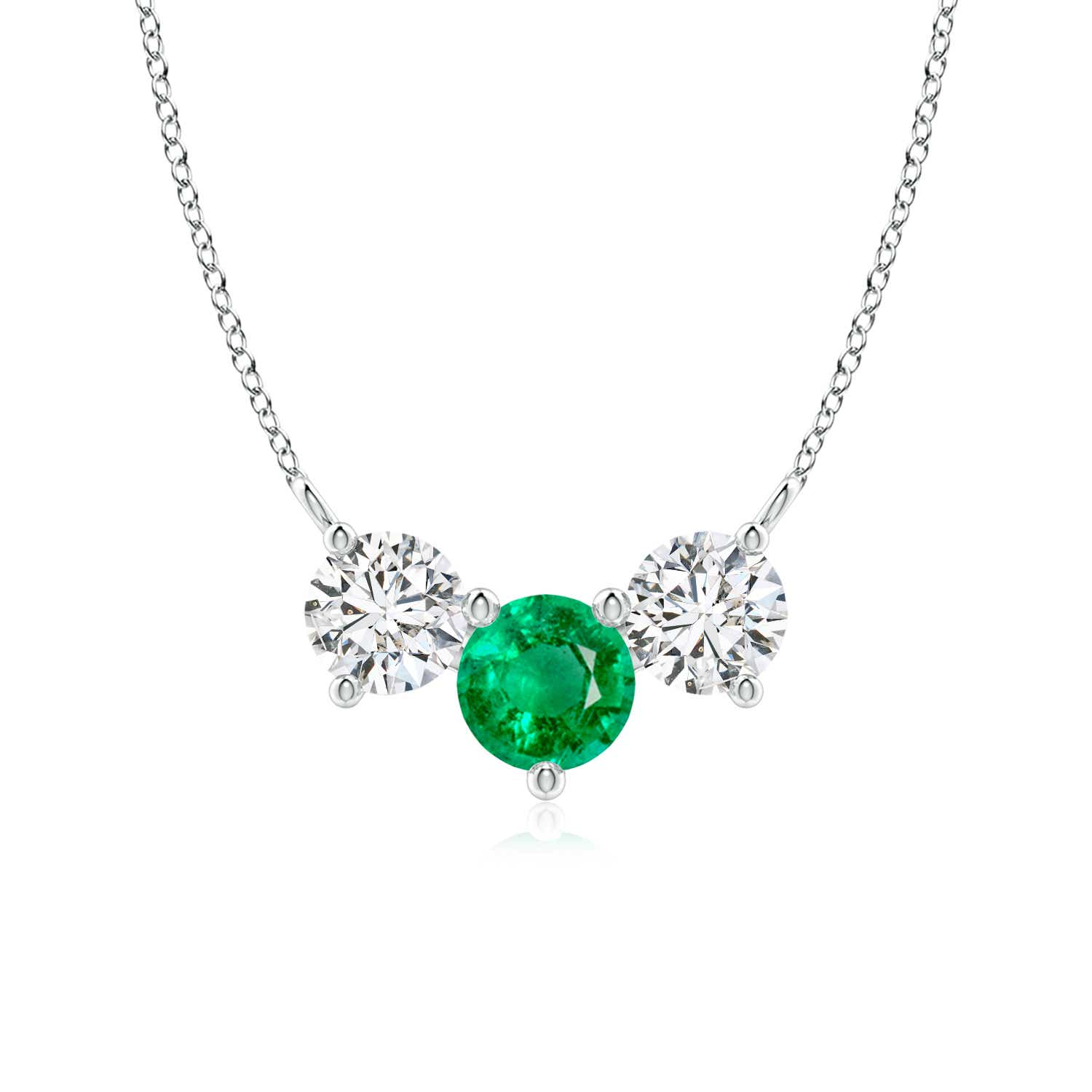 Classic Emerald and Diamond Necklace