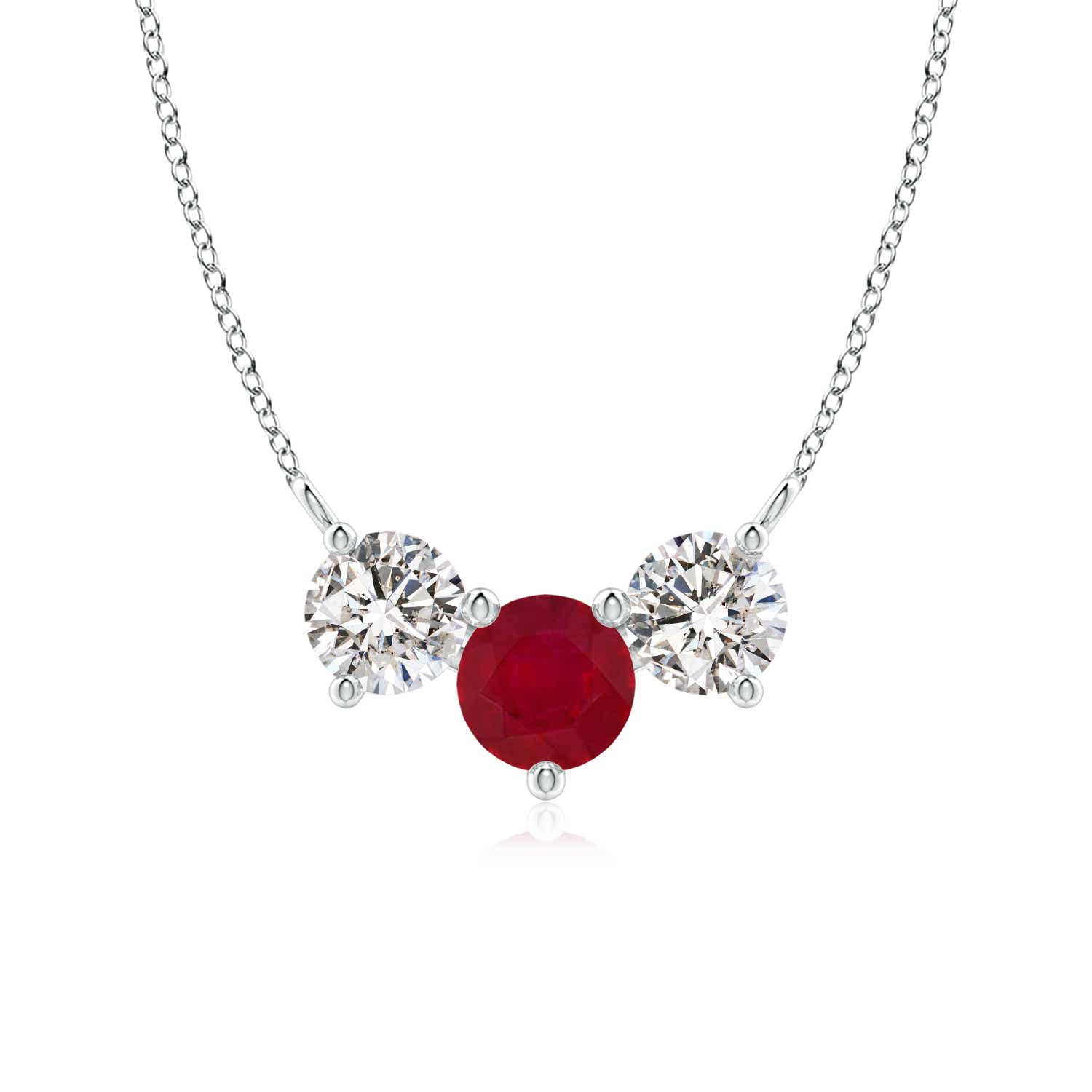 Classic Ruby and Diamond Necklace