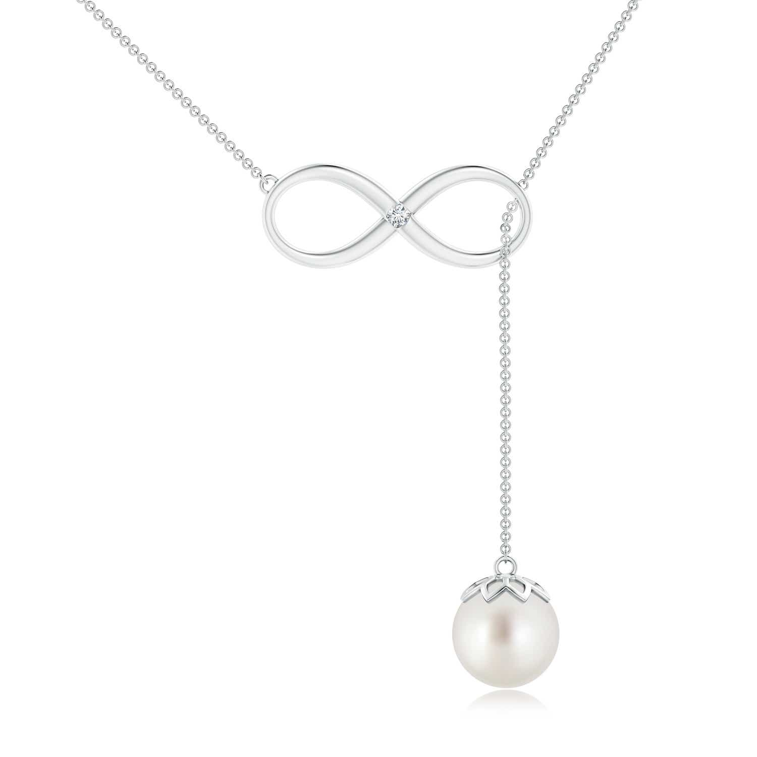 Angara South Sea Cultured Pearl Lariat Necklace with Diamond drsEoCWXTv