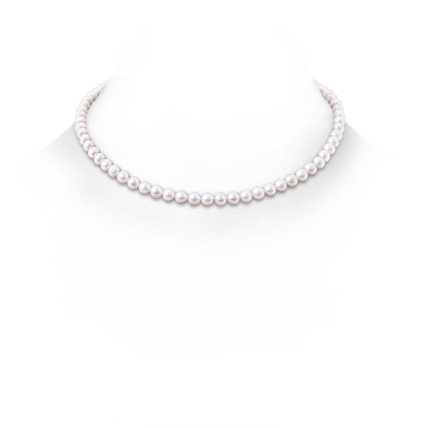 Angara 16 Freshwater Cultured Pearl Single Strand Necklace eaC0RT