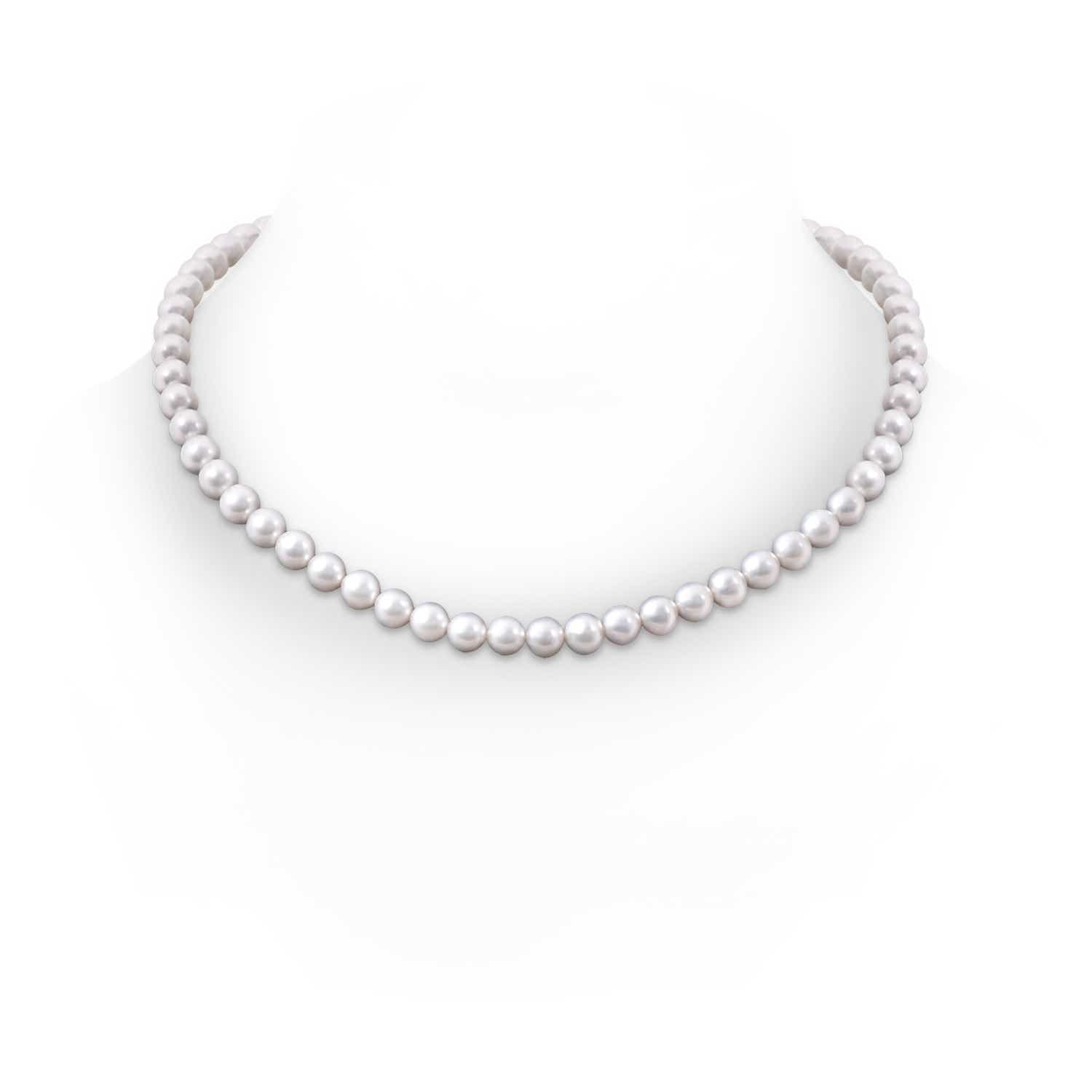 7-8mm, 20 Classic Freshwater Cultured Pearl Necklace