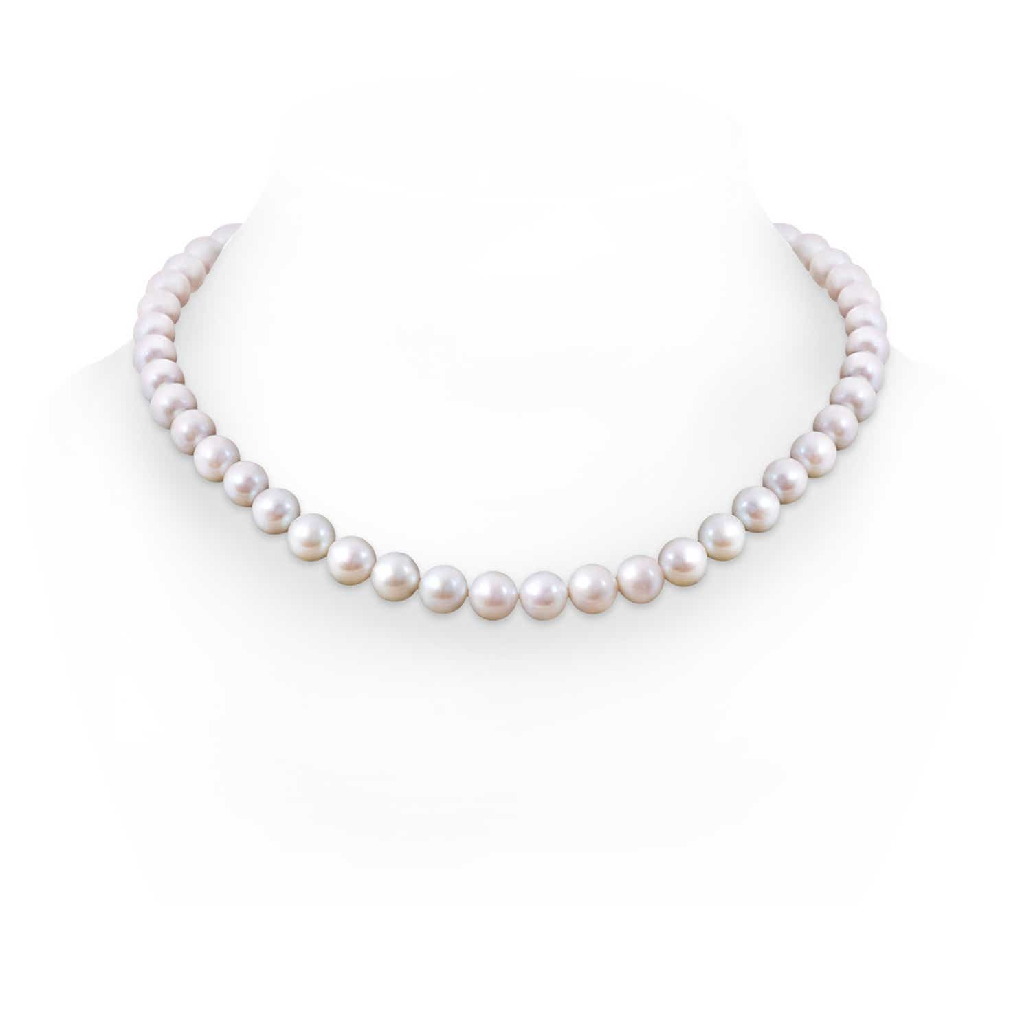 Angara 20 Classic Freshwater Cultured Pearl Necklace fLrbuE
