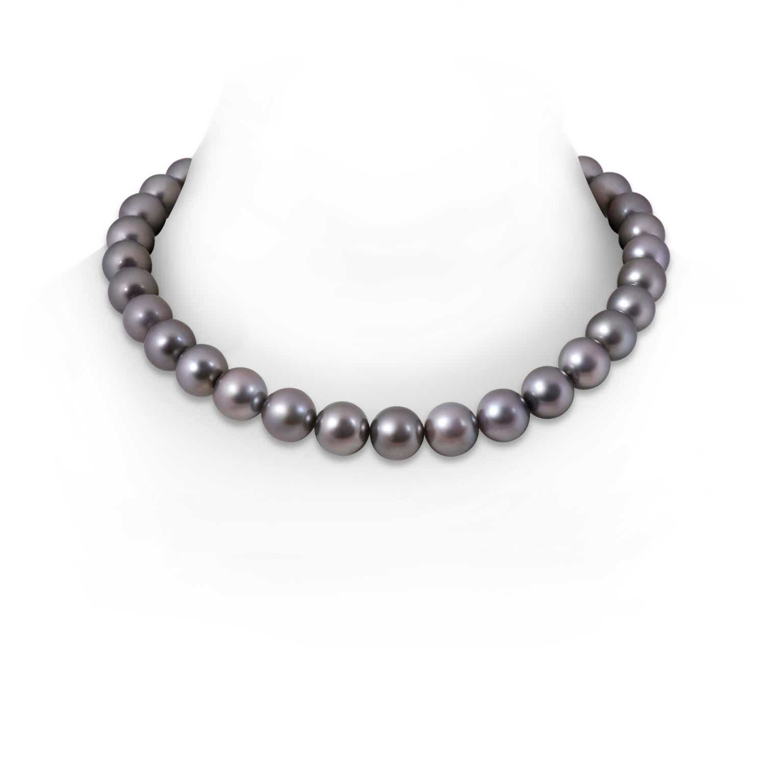 11 12mm, 16 Tahitian Cultured Pearl Choker Necklace