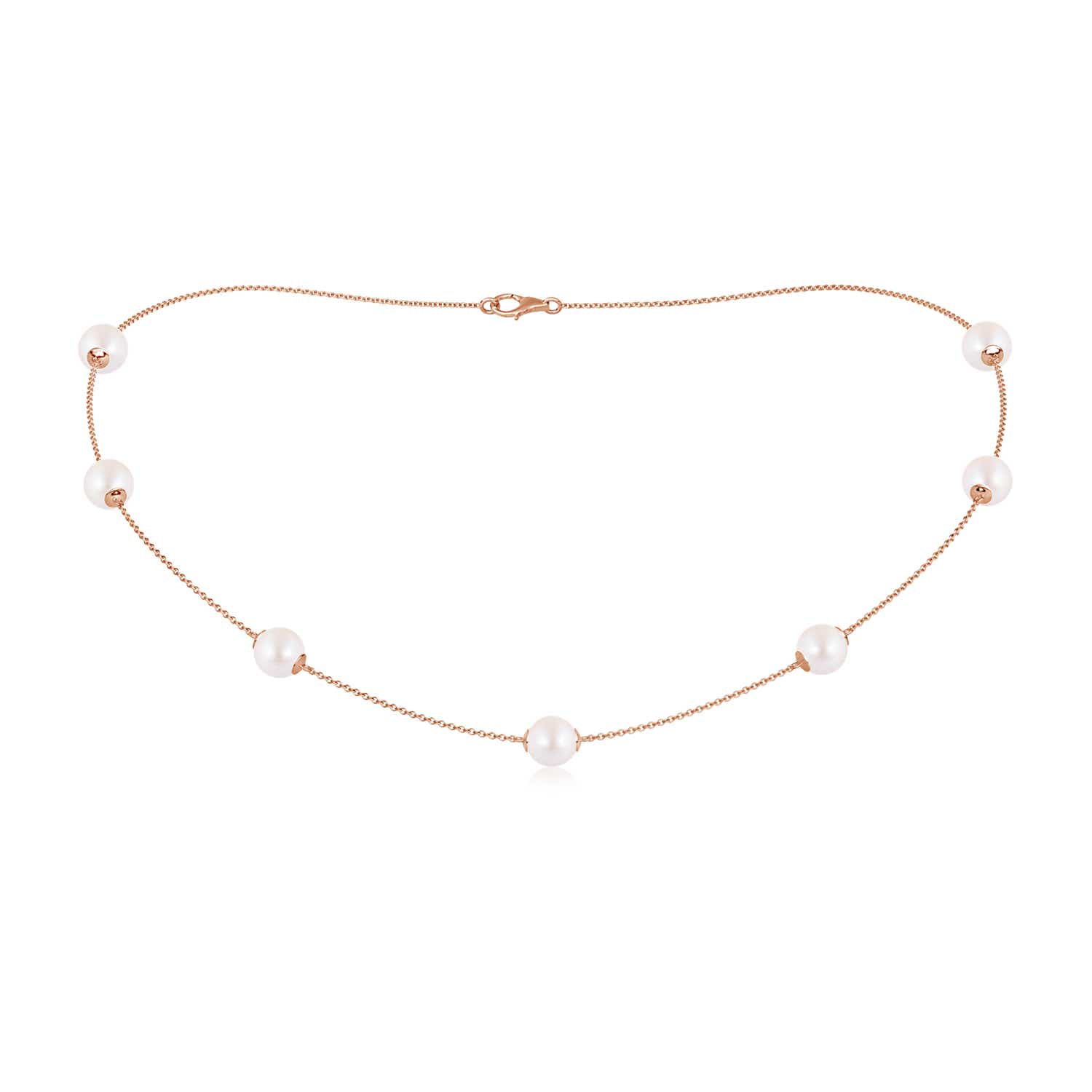 16 Akoya Cultured Pearl Station Necklace
