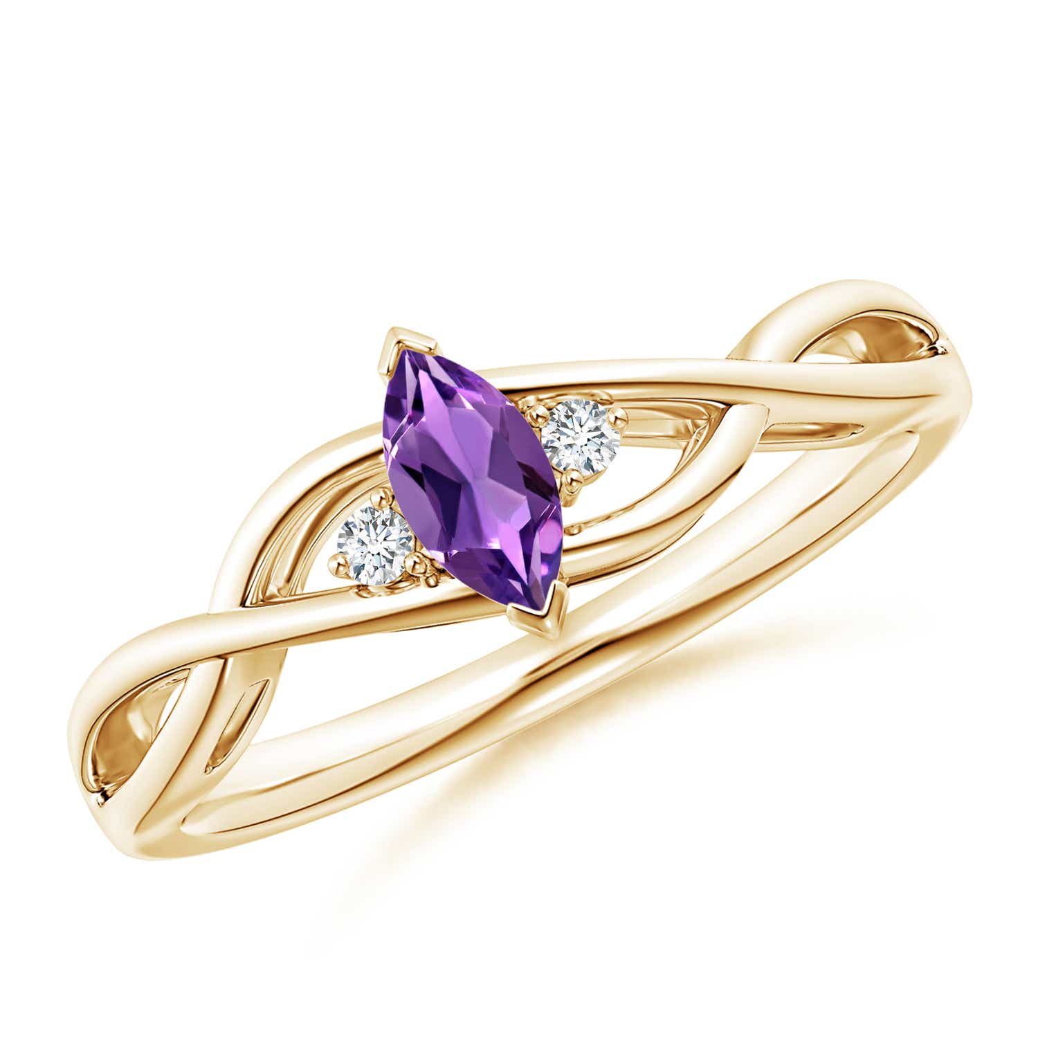 Christmas-Sale-Solitaire-Natural-Marquise-Amethyst-Diamond-Ring-Gold-Platinum