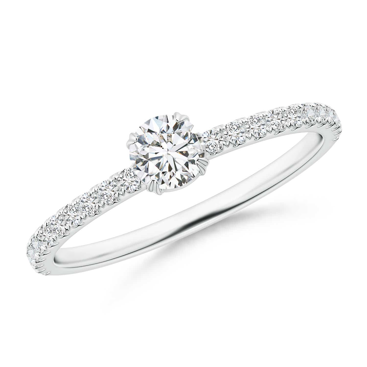 Vintage Inspired Diamond Solitaire Ring